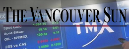 MEDA-2014-10-30 Vancouver Sun-TSX lower amid falling gold prices, heavy slate of earnings(feat)
